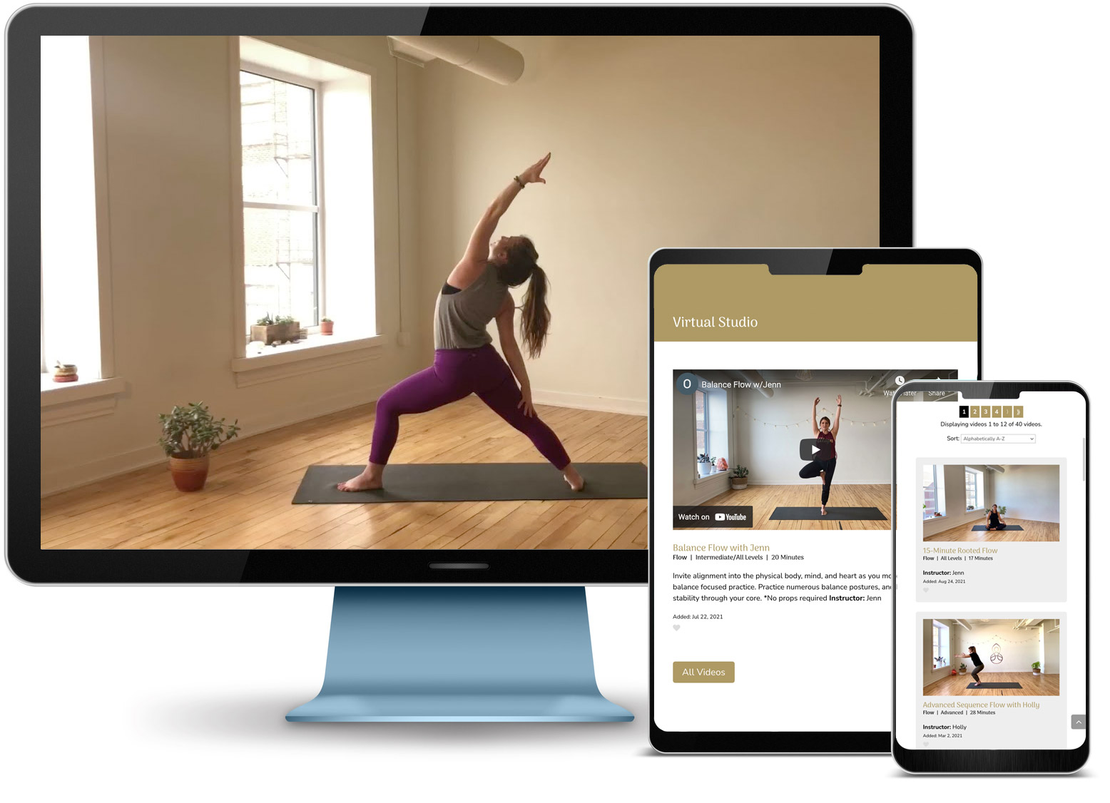 Open Hearts Wellness website displayed on monitor, tablet and smartphone